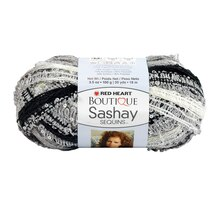 Red Heart Boutique Sashay Sequins Yarn, Panda