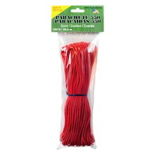 Parachute Cord, 550, 100 ft., Red