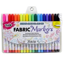 Tulip Fabric Markers Fine Writers, 20 Pack