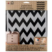 FolkArt Large Painting Stencil, Chevron