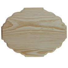 ArtMinds Wood Plaque, Scalloped Oval