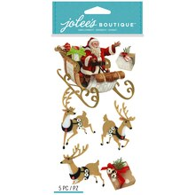 Jolee's Boutique Stickers, Santa and Sleigh