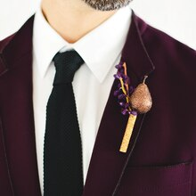 Purple Luxe Wedding Boutonniere, medium
