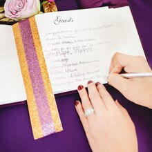 Purple Luxe Wedding Guest Book, medium