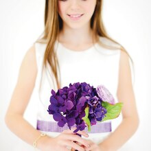 Purple Luxe Wedding Flower Girl Bouquet, medium