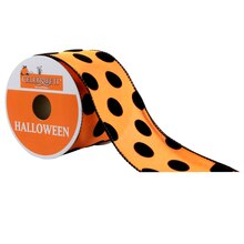 Celebrate It Halloween Ribbon, Orange & Black