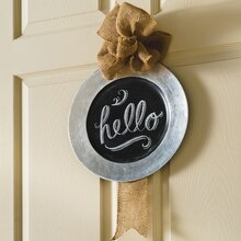 Chalkboard and Burlap Wall Charger Plate