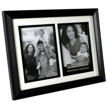 "Studio Décor Expressions 2-Opening Collage Frame, Black 5"" x 7"""