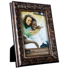 "Studio Decor® Simply Essentials™ Bronze Script Frame, 4"" x 6"""