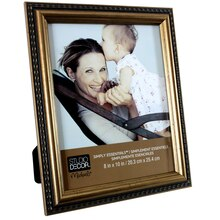 "Studio Decor Simply Essentials Gold Pickstitch Frame, 8"" x 10"""