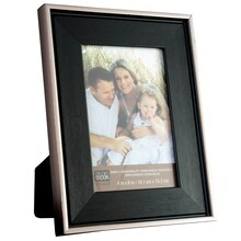 "Studio Decor Simply Essentials Black Frame With Silver Edge, 4"" x 6"""