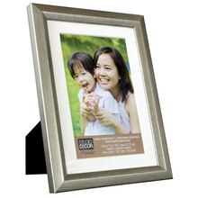 "Studio Decor Simply Essentials Silver Foil Frame with Mat, 4"" x 6"""