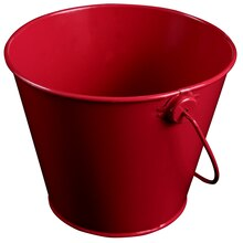 Celebrate It Small Tin Pail, Red