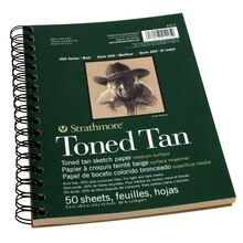 "Strathmore 400 Series Toned Tan Sketch Pad, 5.5"" x 8.5"""