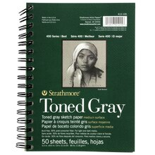 "Strathmore 400 Series Toned Gray Sketch Pad, 5.5"" x 8.5"""