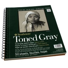 "Strathmore 400 Series Toned Gray Sketch Pad, 9"" x 12"""