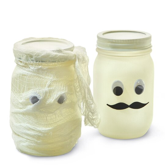 krylon glowz mustache mason jar. Black Bedroom Furniture Sets. Home Design Ideas