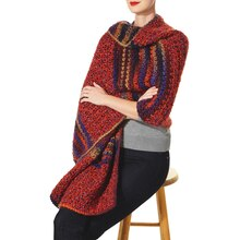 Isaac Mizrahi® CRAFT™ Sutton and Carnegie Hill Colorblock Wrap (Crochet)