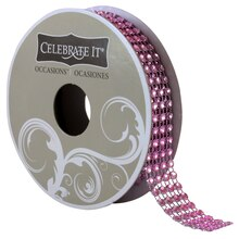 Celebrate It Occasions Bling Ribbon, 4 Rows, Light Pink