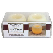 Inglow Flameless Real Wax LED Mini Hurricanes, 2 Pack