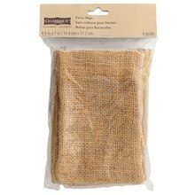 "Celebrate It Occasions  Burlap Favor Bags, 4.5"" x 7"""