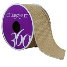 Celebrate It 360 Wired Faux Burlap Ribbon