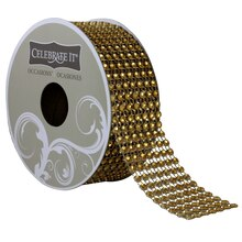 Celebrate It Occasions Bling Ribbon, 7 Rows, Gold