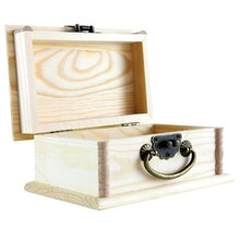 Artminds Wood Box with Handle, Open