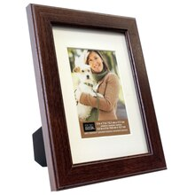 "Studio Decor Simply Essentials Classic Frame With Mat, Brown 3.5"" x 5"""