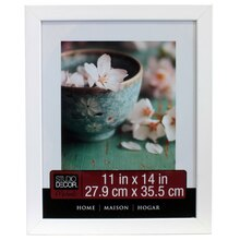"""Studio Décor Home Collection Flat Frame, White 11"""" x 14"""""""