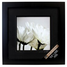 Studio Décor Square Gallery Float Frame With Double Mat, Black