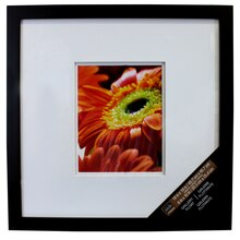 "Studio Décor Square Gallery Float Frame With Double Mat Black 8"" x 10"""