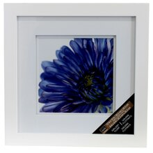 "Studio Décor Square Gallery Float Frame With Double Mat, White 8"" x 8"""