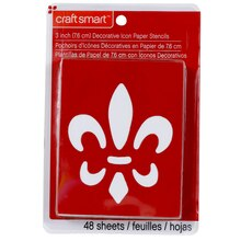 "Craft Smart Stencils, 3"" Decorative Icons"