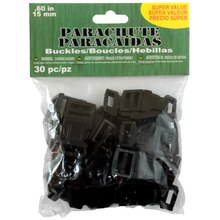 Parachute Cord Buckles, 15mm, Value Pack