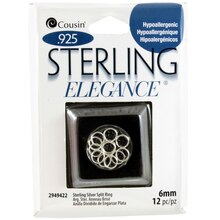 Cousin Sterling Elegance Sterling Silver Split Ring