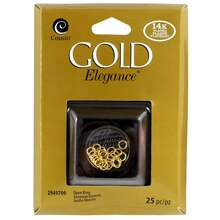 Cousin Gold Elegance Open Jump Rings, Gold Plated