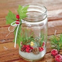 Festive LED Mason Jar Luminary