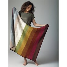 Lion's Pride® Woolspun® Knit Neutral Afghan (Level 1)