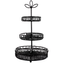 Bead Landing 3-Tier Metal Jewelry Stand