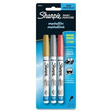 Sharpie Water-Based Paint Markers, Extra Fine Point Metallic Set