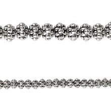 Bead Gallery Silver-Plated Bumpy Metal Beads, Close Up