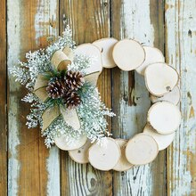 Birch Slice Wreath