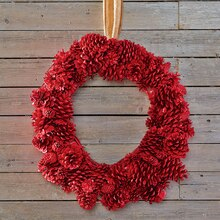 Red Pinecone Wreath