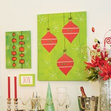 Christmas Ornament Canvas Wall Art