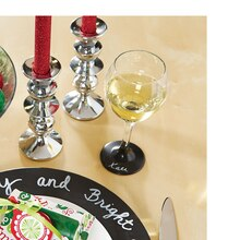 Chalkboard Wine Glass Place Holder