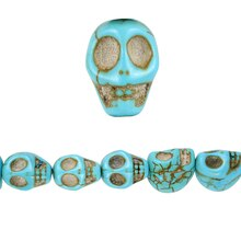 Bead Gallery Reconstituted Stone Skull Beads, Close Up