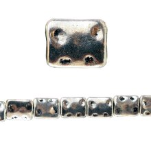 Bead Gallery Antique Silver Plated Rectangle, Close Up