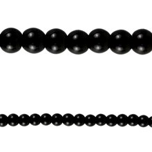 Bead Gallery Round Glass Beads, Black 6 mm Close Up