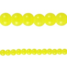Bead Gallery Round Glass Beads, Yellow 6 mm Close Up